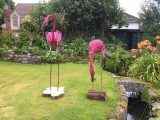 Pink willow flamingos