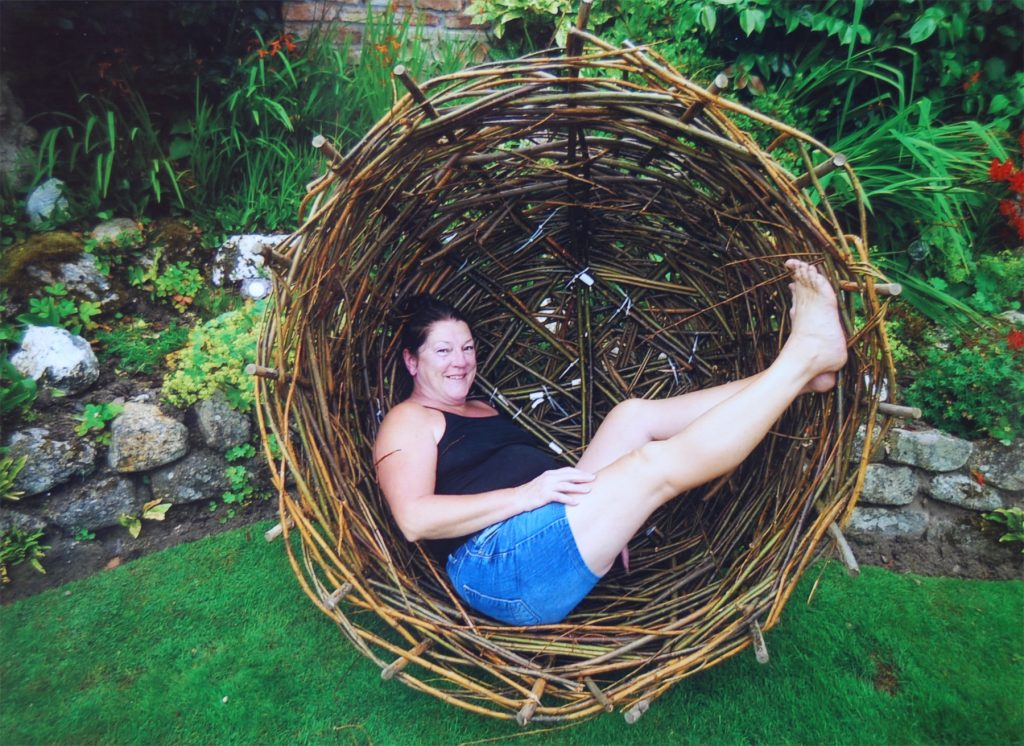 Lynn in a willow nest