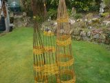 Willow obelisks and trellis