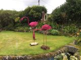 Pink willow flamingos